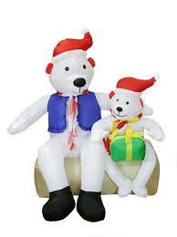 Lighted Polar Bear Christmas Decorations by Polar Bear Outdoor Inflatables Christmas Wikii