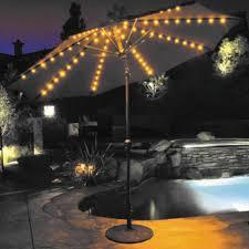 Patio Umbrellas With Led Lights by Galtech 9 Ft Sunbrella Aluminum Auto Tilt With Crank Lift Patio