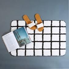 monochrome grid bath mat buy bath mats online in india