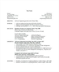 Resume Format Experienced Software Engineer Sample Resume Format For Freshers Software Engineers
