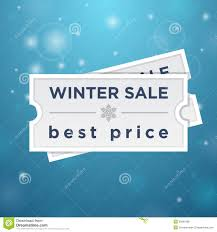 two tickets to the winter sale and best price stock illustration