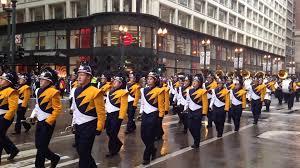 thanksgiving parade in chicago butler golden tornado marching band chicago thanksgiving parade