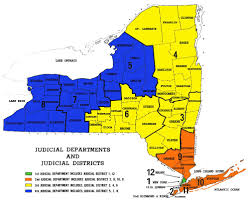 New York State Counties Map by Appellate 4th