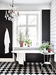 Bathroom White And Black Interior by Best 25 Checkered Floors Ideas On Pinterest Cozy Kitchen