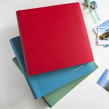 large photo album personalised large coloured leather album begolden