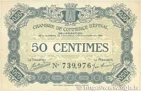 chambre de commerce epinal 50 centimes regionalism and miscellaneous épinal 1920 jp