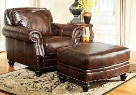 Living Room Chair With Ottoman How To Decorate Living Room With Leather Chair Ottoman Roy Home