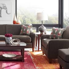 cb2 pillows with window treatments family room contemporary and