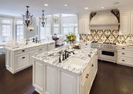 white kitchen black island heartening black and white granite countertops decohoms
