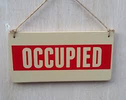 Bathroom Occupied Signs Bathroom Occupied Etsy