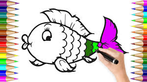 fish coloring pages for kids how to colours videos for children