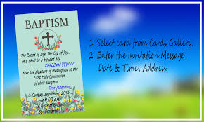 Example Of Baptismal Invitation Card Baptism Invitation Maker Android Apps On Google Play