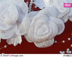 Wedding Flowers Background White Wedding Flowers Against The Red Background Free Stock