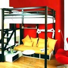 lit mezzanine canapé lit superpose avec canape lit mezzanine avec armoire integree lit