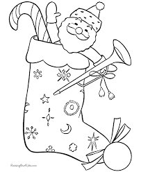christmas coloring pages stoking coloring