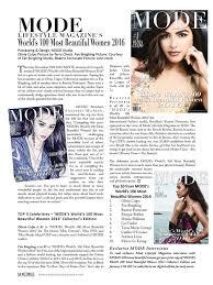 mode u0027s world u0027s 100 most beautiful women 2016 u201d list announced