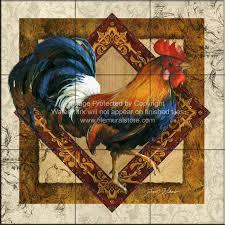 rooster tiles kitchen backsplash tiles js ruler of the roost