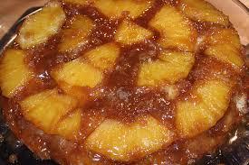 pineapple upside down cake with dark rum sauce