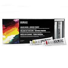 amazon com acrylic paint modern theory color mixing sets
