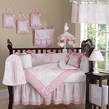 White Crib Set Bedding Sweet Jojo Designs 9 Pink And White
