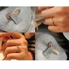 finger rings fashion images G286 hot fashion girl v shape finger rings bijoux new 2018 simple jpg
