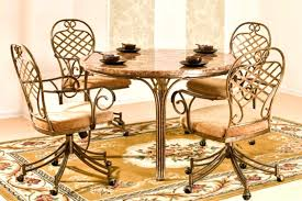 kitchen table and chairs with casters kitchen table chairs with wheels kitchen table chairs wheels