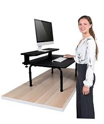 standing computer desk amazon amazon com standing desktop converter with monitor shelf convert