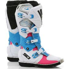motocross boots for women new sidi x 3 lei ladies mx white pink blue premium womens