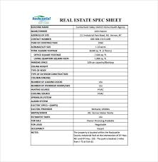 spec sheet template 6 free word pdf documents download free