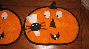 quilted halloween placemats quilters club of america