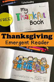 thanksgiving emergent reader my thankful book literacy