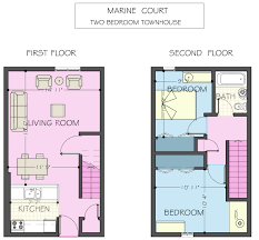 two bedroom townhouse floor plan marine court apartments housing u0026 dining services university