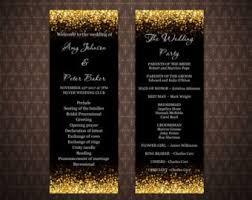 Wedding Pamphlet Template Wedding Program Template Etsy