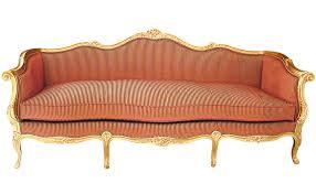 canap style louis xv canapé de style louis xv en hêtre 3 places orange crosse