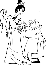 mulan coloring pages free cartoon coloring pages of
