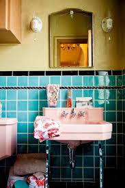 Art Deco Bathroom by Getting The Vintage Look Now Brand New Colorful Bathrooms That