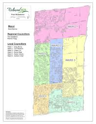 Dc Ward Map Mayor Of Richmond Hill Town Of Richmond Hill