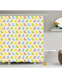 Baby Bathroom Shower Curtains by Sweet Deal On Rubber Duck Shower Curtain Colorful Ducklings Baby