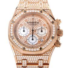 gold lamborghini with diamonds audemars piguet royal oak diamond pave 18k rose gold men u0027s watch