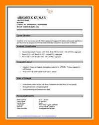 Sample Resume Format For Fresh by 5 Simple Cv Format For Fresher Simple Cv Formate
