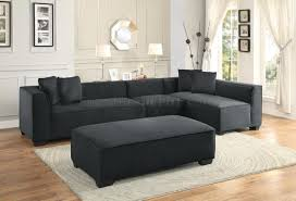 sectional sofa 8303 in graphite by homelegance w options