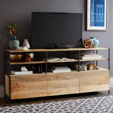 media consoles furniture industrial modular media console 67 west elm