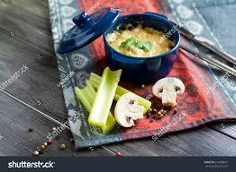 julien cuisine julien fele duck mushrooms sauce stock photo 278708657