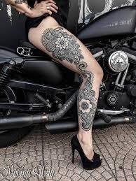 mandala full leg best tattoo design ideas