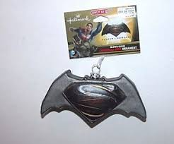 new nwt ornament glass superman vs batman ebay