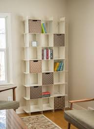 modern 21 cube white tall bookcase u2013 sprout