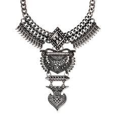 bib necklace metal images Sugarfix by baublebar amazon bib necklace dark silver target