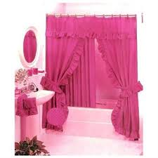 Double Swag Shower Curtain With Valance Double Swag Shower Curtain Sets Shower Curtain Rod