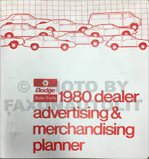 1980 dodge u0026 plymouth van repair shop manual original sportsman