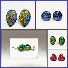 polymer clay stud earrings beadazzle me polymer jewelry trendy stud earrings polymer clay